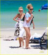 Ashley Tisdale & Julianne Hough at the beach in Miami, August 1, 2011