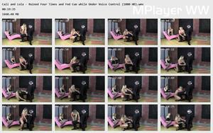 Brat Princess 2: Cali and Lola - Ruined Four Times and Fed Cum while Under Voice Control (1080 HD)