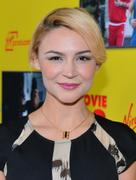 Samaire Armstrong  - Movie 43 premiere in Hollywood 01/23/13